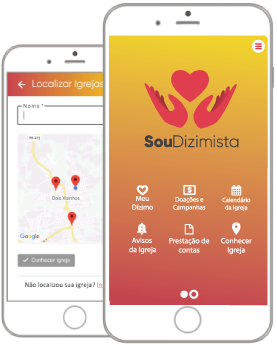 Tela inicial aplicativo SouDizimista